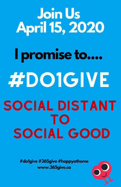 Social Distant to Social Good Do1GIve April 15th